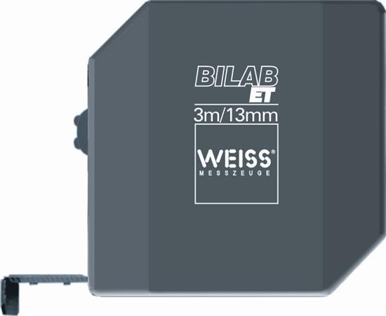 Pocket rolmaat Type Weiss Bilab ET 3 lengte 3m. deling mm/mm
