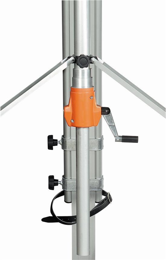 GLUNZ draaihaspel G3 HVU 2,30m.- 4,50m. ,schroefklemmen